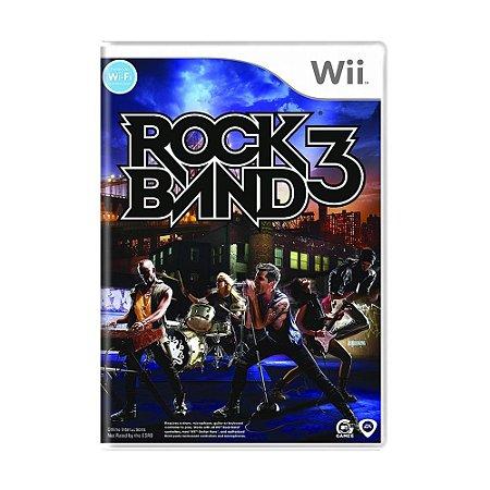 Jogo Rock Band 3 - Wii