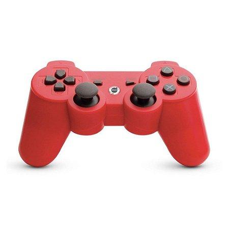 Controle Dazz Dualshock Bluetooth Sem Fio Vermelho - PS3