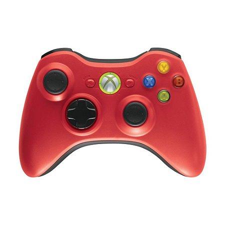 Controle Microsoft sem fio Vermelho - Xbox 360