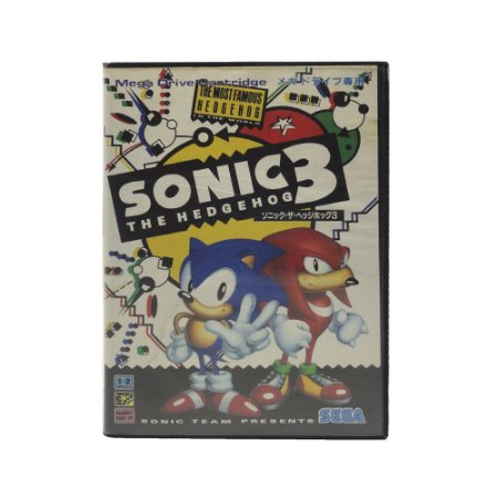 Jogo Sonic the Hedgehog 3 (Japonês) - Mega Drive