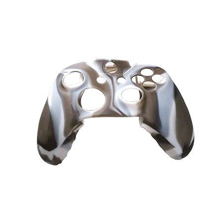 Capa de Silicone Camuflada Marrom/Branco para Controle Microsoft - Xbox One