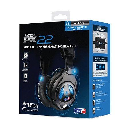Headset com fio Turtle Beach Ear Force PX 22 - PS3, PS4, PC e Mac
