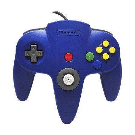 Controle Nintendo 64 Azul Escuro - Nintendo