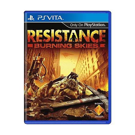 Jogo Resistance Burning Skies - PS Vita