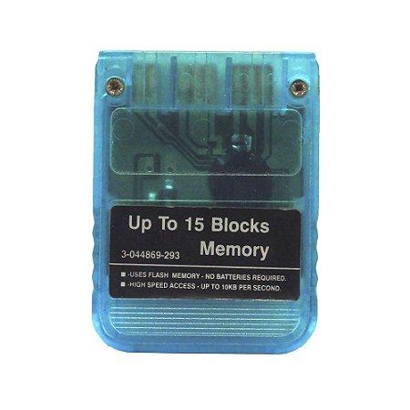 Memory Card Azul Transparente - PS1