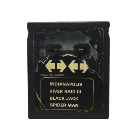 Jogo Dactar 4 em 1 (Indianopolis, River Raid III, Black Jack e Spider Man) - Atari