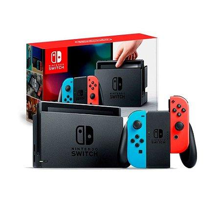 Console Nintendo Switch Azul/Vermelho - Nintendo (Defeito Cartão SD)