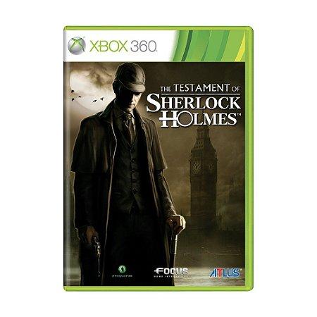 Jogo The Testament Of Sherlock Holmes - Xbox 360
