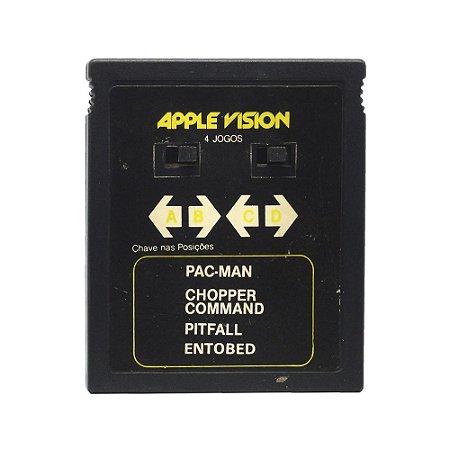 Jogo Apple Vision 4 em 1 (Pac-Man, Chopper Command, Pitfall e Entobed) - Atari