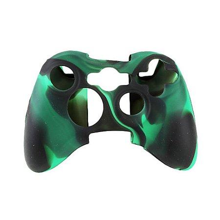 Capa de Silicone Camuflagem Verde/Preto para Controle Microsoft - Xbox 360