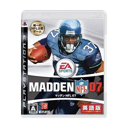Jogo Madden NFL 07 - PS3
