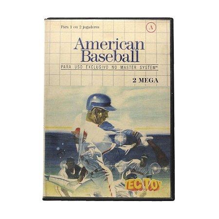 Jogo American Baseball - Master System