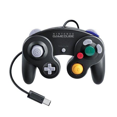Controle Nintendo GameCube Preto com fio - GameCube