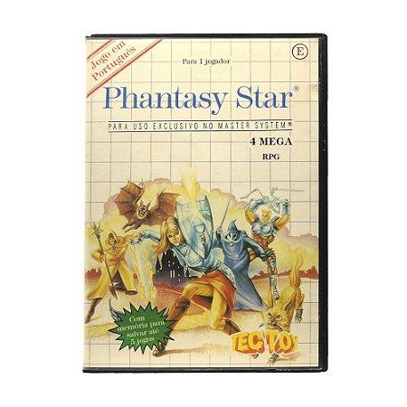 Jogo Phantasy Star - Master System