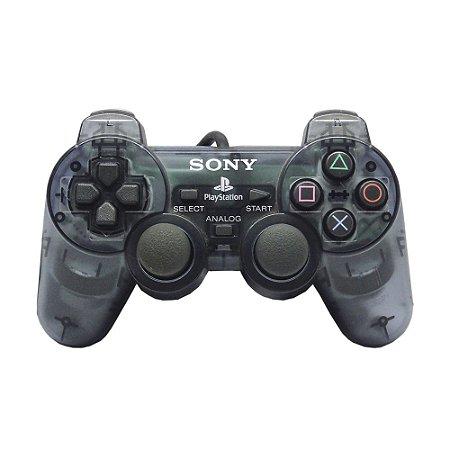Controle Sony Dualshock 2 Transparente - PS2