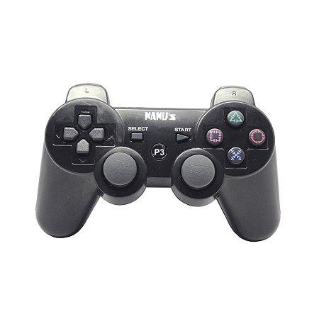 Controle Nanu's Dualshock 3 Preto - PS3