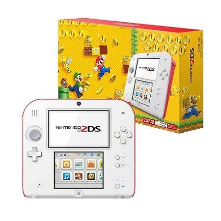 Console Nintendo 2DS Branco e Vermelho - Nintendo