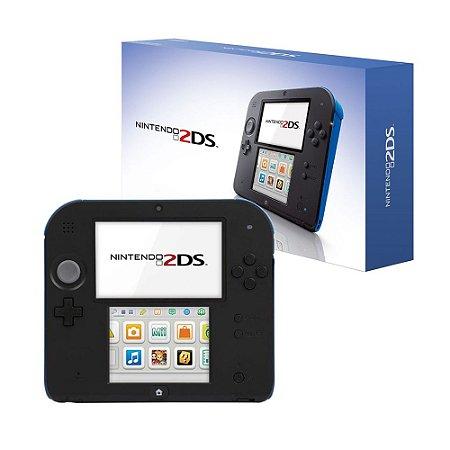 Console Nintendo 2DS Preto e Azul - Nintendo