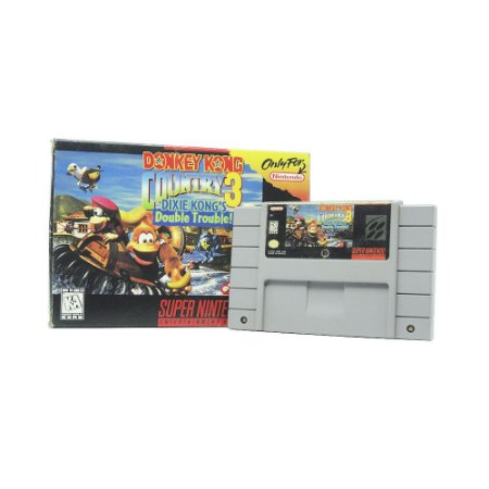 Jogo Donkey Kong Country 3: Dixie Kong's Double Trouble! - SNES