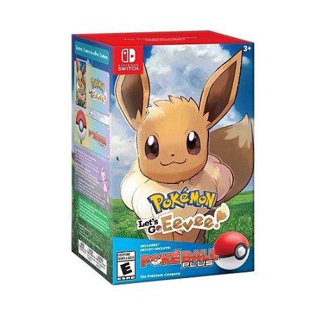 Jogo Pokémon: Let's Go, Eevee! (Pokéball Plus Bundle) - Switch