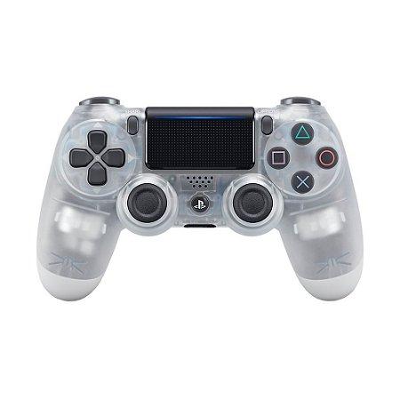 Controle Sony Dualshock 4 Crystal sem fio - PS4