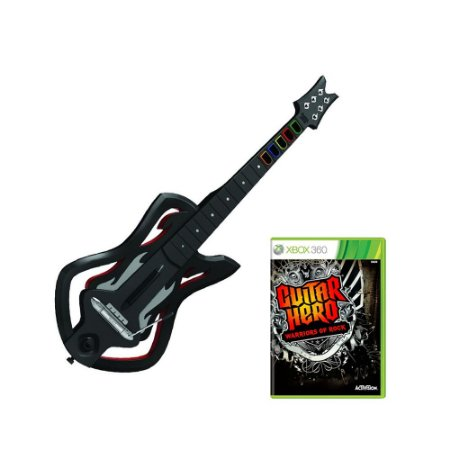 Jogo Guitar Hero: Warriors of Rock + Guitarra - Xbox 360