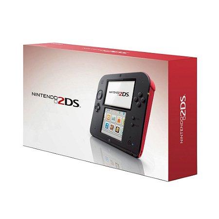 Console Nintendo 2DS Preto e Vermelho - Nintendo