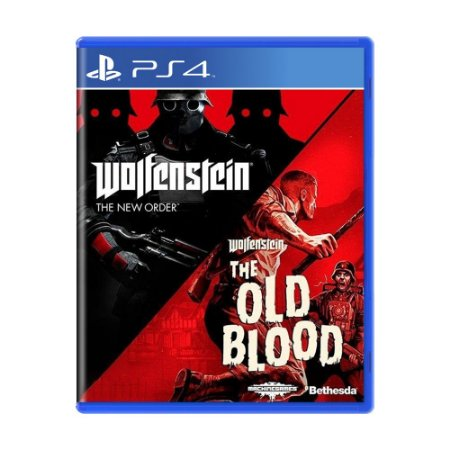 Jogo Wolfenstein: The old Blood + Wolfenstein: The New Order - PS4