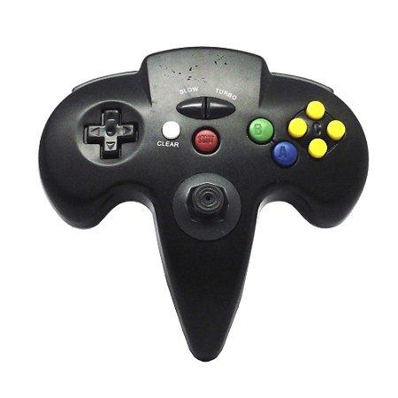Controle Turbo Paralelo Nintendo 64 -Nintendo 64