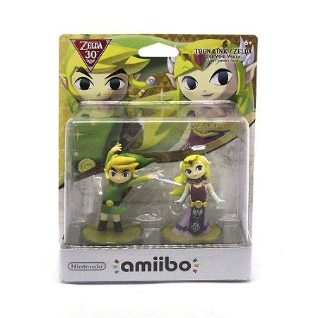 Nintendo Amiibo: Toon Link/Zelda - Super Smash Bros - Wii U, New Nintendo 3DS e Switch