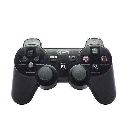 Controle Knup Preto Sem Fio - PS3