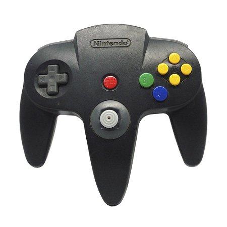 Controle Nintendo 64 Cinza Escuro - Nintendo