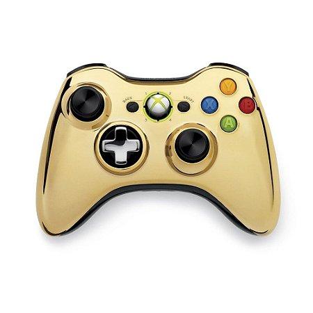 Controle Microsoft Dourado Sem Fio - Xbox 360