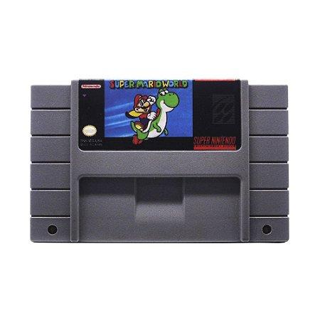 Jogo Super Mario World - SNES (Relabel)
