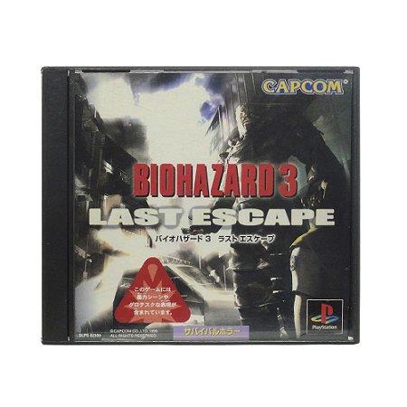 Jogo Biohazard 3: Last Escape - PS1 (Japonês)