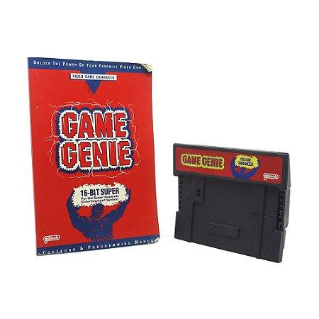 Game Genie SNES + Livro De Códigos