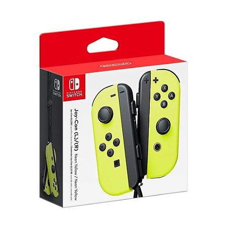 Controle Nintendo Joy-Con (Esquerdo e Direito) Amarelo Neon - Switch