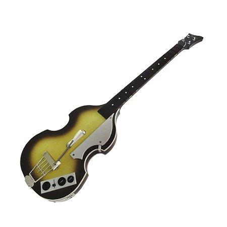 Guitarra Amarela com Marrom (Item para Decoração)