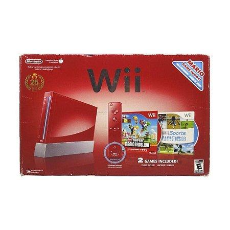Console Nintendo Wii Vermelho - Nintendo