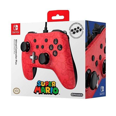Controle PowerA Super Mario com fio - Switch