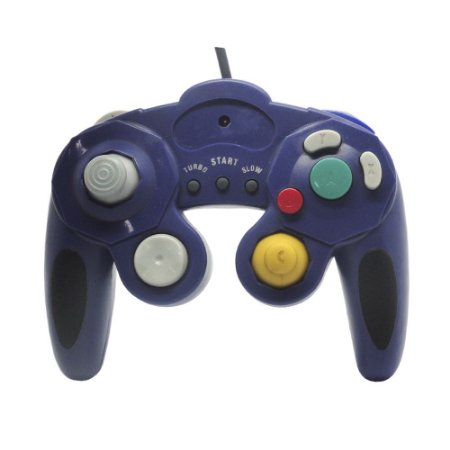 Controle Paralelo GameCube Azul com fio - Wii e GameCube