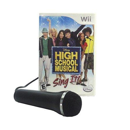 Jogo High School Musical: Sing It! + Microfone - Wii