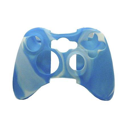 Capa de Silicone Azul/Branco para Controle Microsoft - Xbox 360