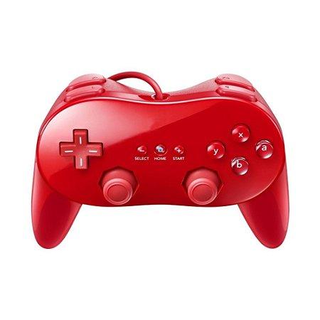 Pro Controller Vermelho - Wii