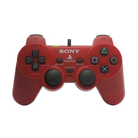 Controle Sony Dualshock 2 Vermelho - PS2