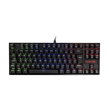 Teclado Gamer Kumara K552RGB-1 (ABNT2) RGB - Redragon