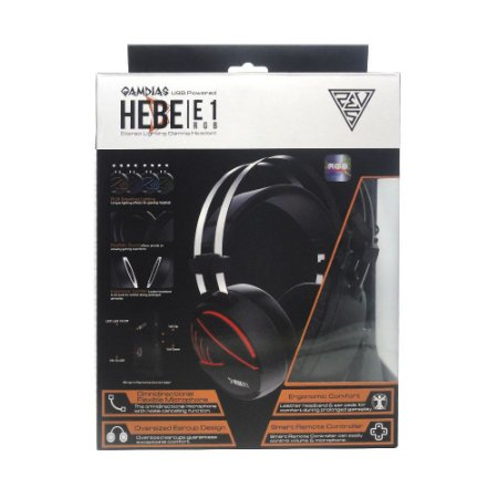 Headset Gamer Gamdias Hebe E1 RGB com fio - PC