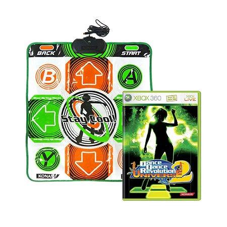 Jogo Dance Dance Revolution Universe 2 + Tapete de Dança - Xbox 360