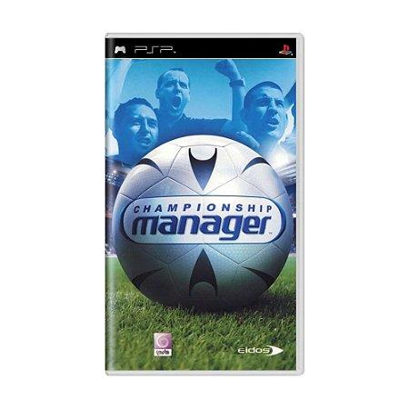Jogo Championship Manager - PSP