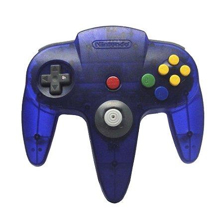 Controle Nintendo 64 Roxo Transparente - Nintendo